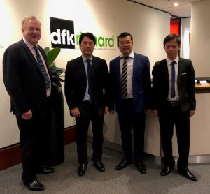 (L-R) Richard Hill, Pham The Hung (DFK Vietnam), Dominic Pham, Nguyen Dac Long (DFK Vietnam)